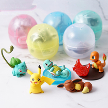 TAKARA TOMY Pokemon Pikachu Charmander Squirtle Bulbasaur Action Figure Ex Elf Ball Children Toy Gifts 5pcs/set