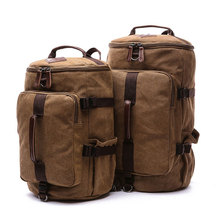 Men's Travel Luggage Backpacks High Quality Canvas Outdoor Shoulder Bags Vintage Large Multifunction Laptop School Bagpack B039