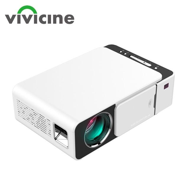 Vivicine V20 ucuz akıllı Video projektör, HDMI USB PC el taşınabilir Mini LED projektör için film oyunları