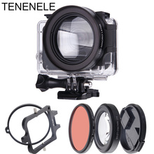 Hero7 Action Camera Filter 58mm Red Filter With 16X Macro Lens Set For GoPro Hero 5 6 7 Black underwater Diving Filters Hero5