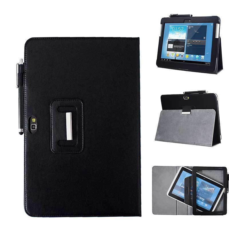 Applicable SAMSUNG Galaxy Note 10.1-Inch <font><b>GT</b></font>-<font><b>N8000</b></font> Back Splint Protection Leather <font><b>Case</b></font> N8010 Protective <font><b>Case</b></font> image