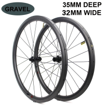 700c Disc Brake Bike Carbon Wheel 32*35mm Tubeless Ready Carbon Rim Optional 6 Types Of  Hub And Pillar 1423 Spoke 3k/6k/12k/UD platt last full carbon rest wheel tt style bicycles carbon wheel 3k 12k the carbon bike parts