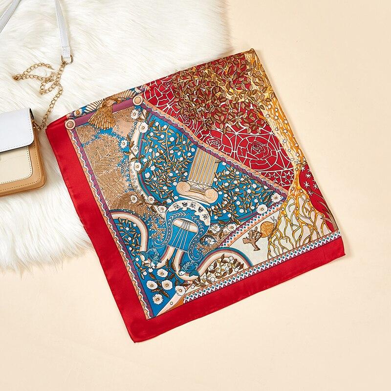 2020 Designer Brand NEW Spring Women Silk Square Scarf Fashion Printed Scarves Lady Shawls Femme Hijab