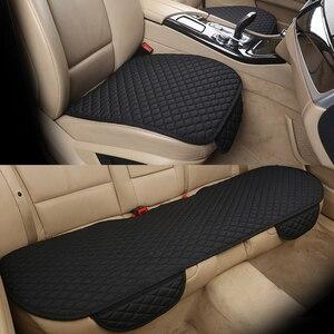 Image 3 - Nicht Bewegt Sich Stoff Auto Sitz Abdeckung Beflockung Tuch/Flachs Kissen Atmungsaktive Protector Mat Pad Auto Zubehör Universal Größe E1 x40