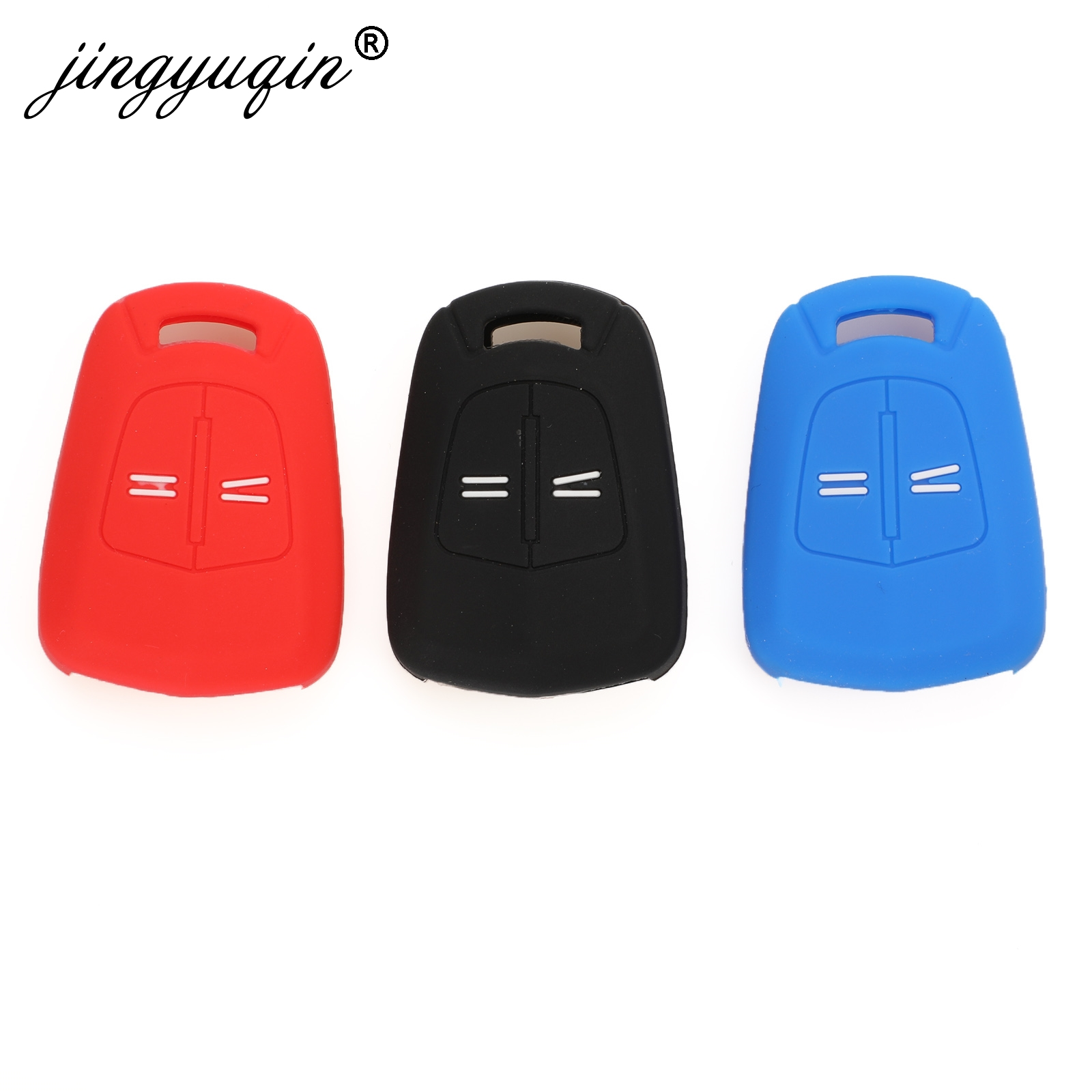 Jingyuqin 2Button Silicone Remote Key Case For Vauxhall /Opel Corsa D ASTRA H Meriva Vectra Zafira Signum Agila Fob Cover Holder