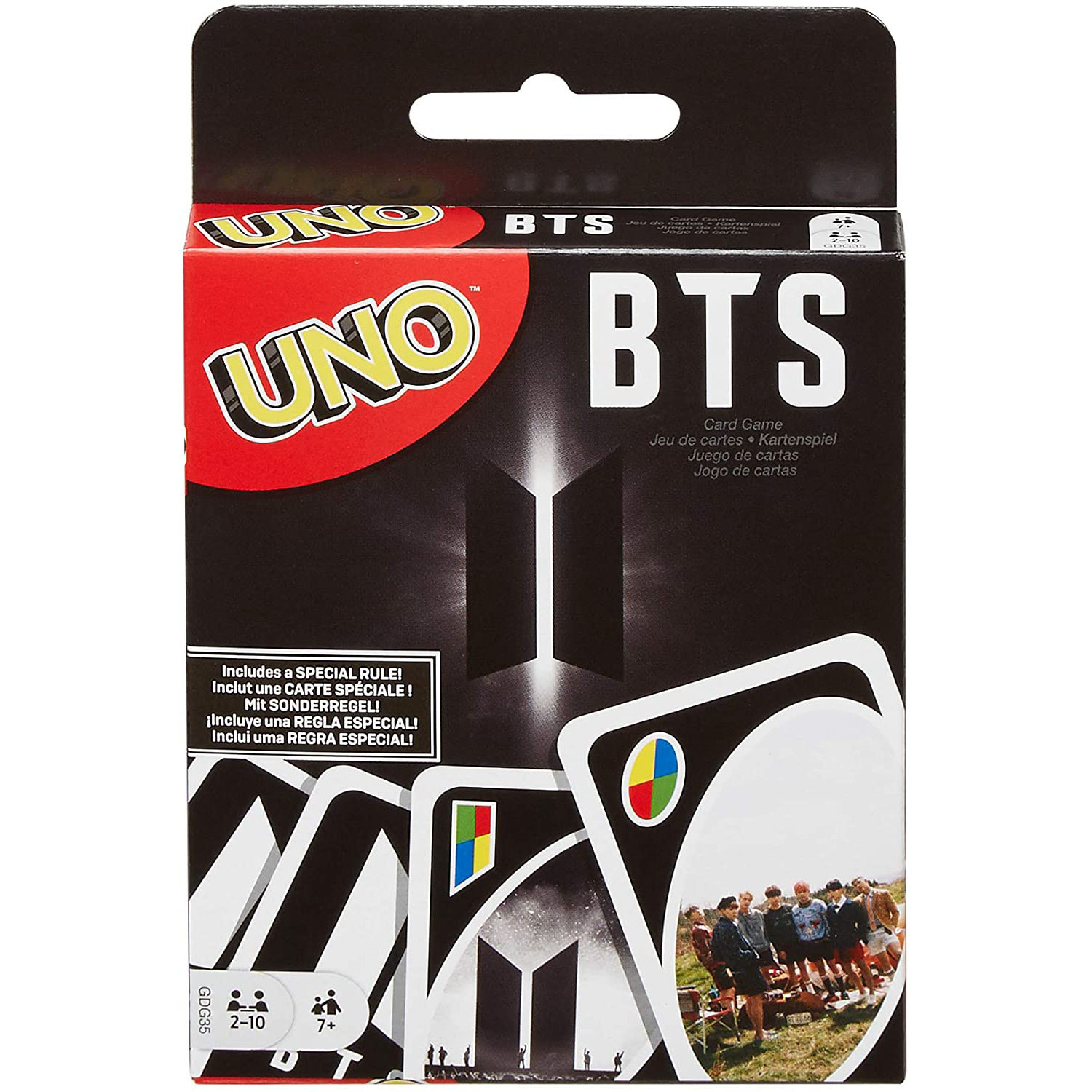 Topsale Puzzle Games Mattel Genuine UNO BTS Family Funny Entertainment Board Game Fun Poker Playing Cards Gift Box