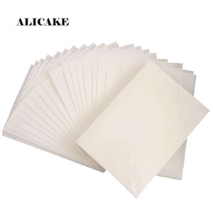100Pcs A4 Wafer Paper 0.3 mm 0.65 mm ThicknessEdible Rice Paper Sheet Cake Decoration Tools