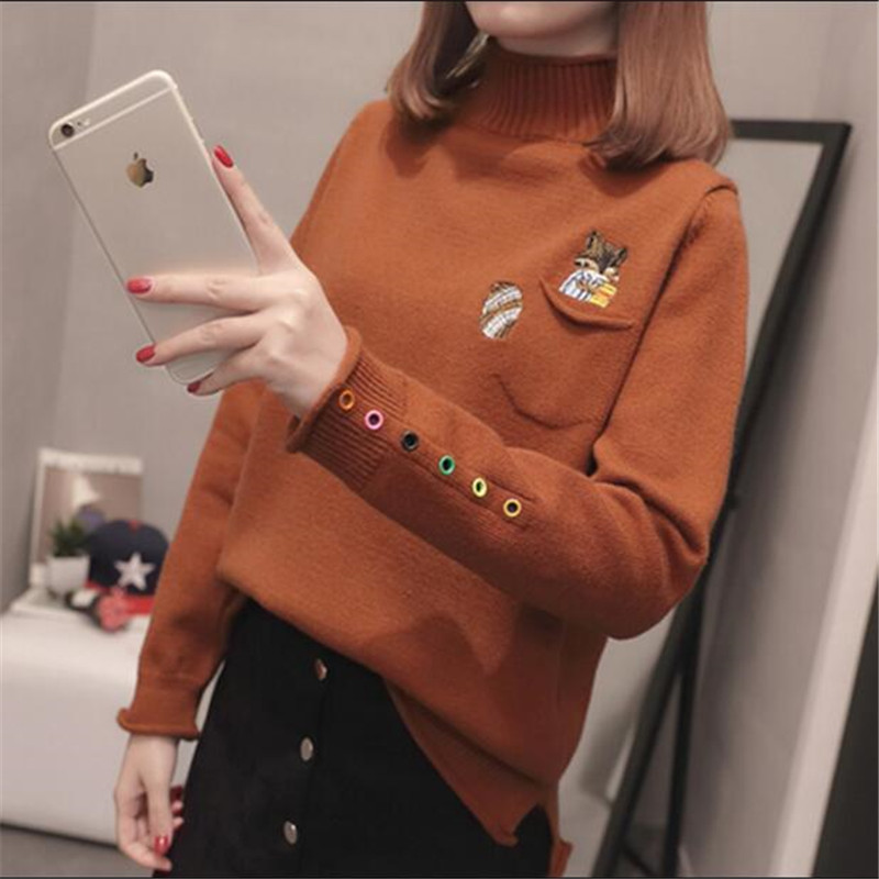 2019 Women's Spring Sweaters Casual Long Sleeve Pullover Autumn Warm Sweater Women