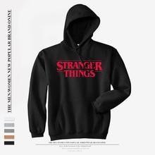 Hooded Sweatshirt Black Pullover Stranger Things Women for Teen Girls Sudaderas Mujer