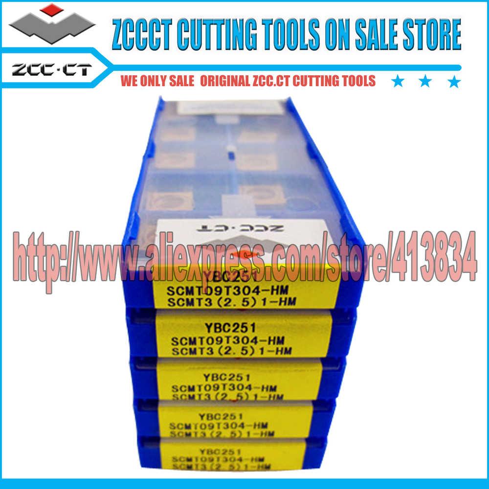 50 pces ZCC-CT carboneto cortador scmt09t304-hm ybc251 scmt09 scmt09t304 zcc inserção scmt zccct cnc ferramentas de corte torneamento inserções