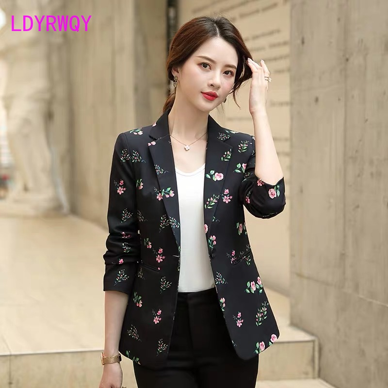 2019 Autumn New Korean Version Of The Slim Fashion Small Man Retro British Style Suit Suit Single Piece Jacket Female