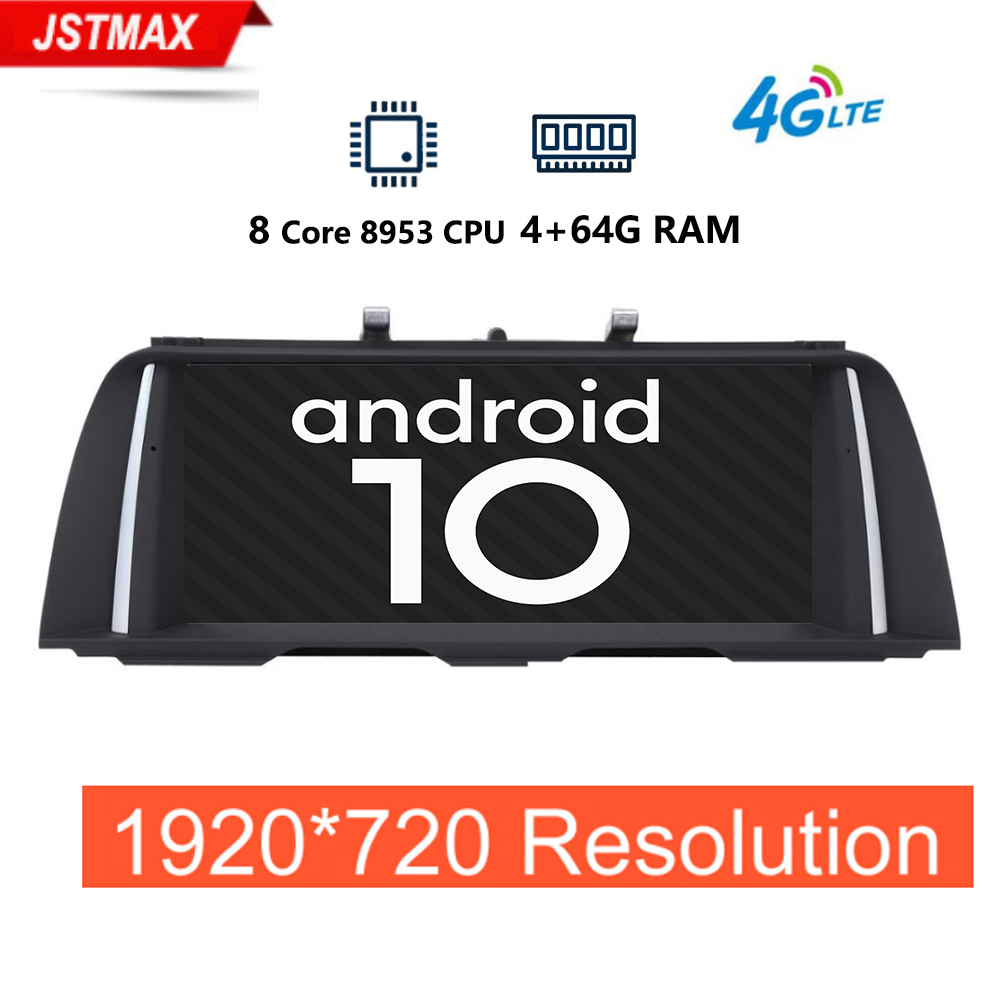 1920*720P 4G+64G Android10 car radio multimedia player for <font><b>BMW</b></font> 5 Series <font><b>F10</b></font>/F11/520(2011-2017)For CIC/NBT gps navigation 4G LET image