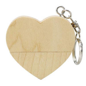 KRY key chain drive pen heart-shaped external hard drive 4GB 8GB 16GB 32GB 64GB wooden flash memory card USB2.0 flash drive
