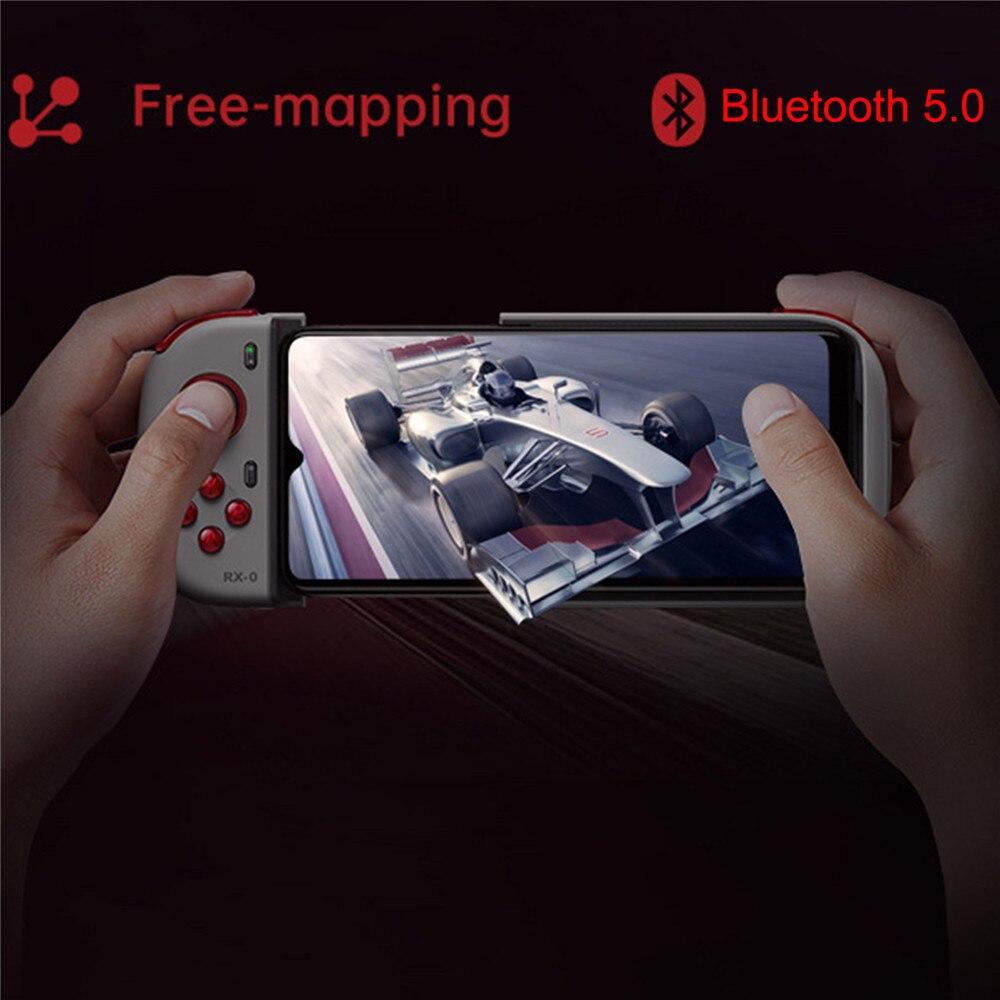 Controlador de juegos portátil para OPPO Reno Ace teléfono Bluetooth Gamepad versión unicornio Joystick 4D Shock y almohadilla de juego balancín 3D