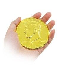 3 дюйма Jumbo Волшебная монета полдоллара Волшебная монета для фокусов Волшебная уличная сцена карты Аксессуары для волшебный трюк