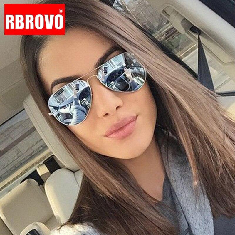 RBROVO 2019 Classic Driving Women Sunglasses Metal Glasses Men Shopping Street Beat Mirror Classic Oculos De Sol Gafas UV400