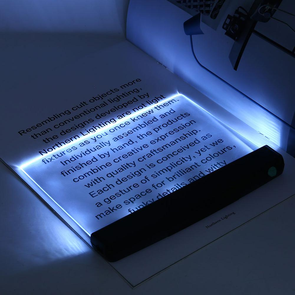 Creative Flat Plate LED Book Light Reading Night Light Portable Travel Dormitory Led Desk Lamp Eye Protect For Home Bedroom 2020