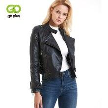 GOPLUS Asymmetric Zip Leather Jackets Womens Moto Biker Zipper Jacket Plus Size Black Gray Faux Coats Leren Jas Dames