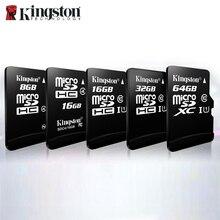 100% الأصلي كينغستون micro sd 128gb 64gb بطاقة الذاكرة 16 cartao دي ميموريال sdhc 32gb الدرجة 10 بطاقات الإقامة مع محول دروبشيبينغ