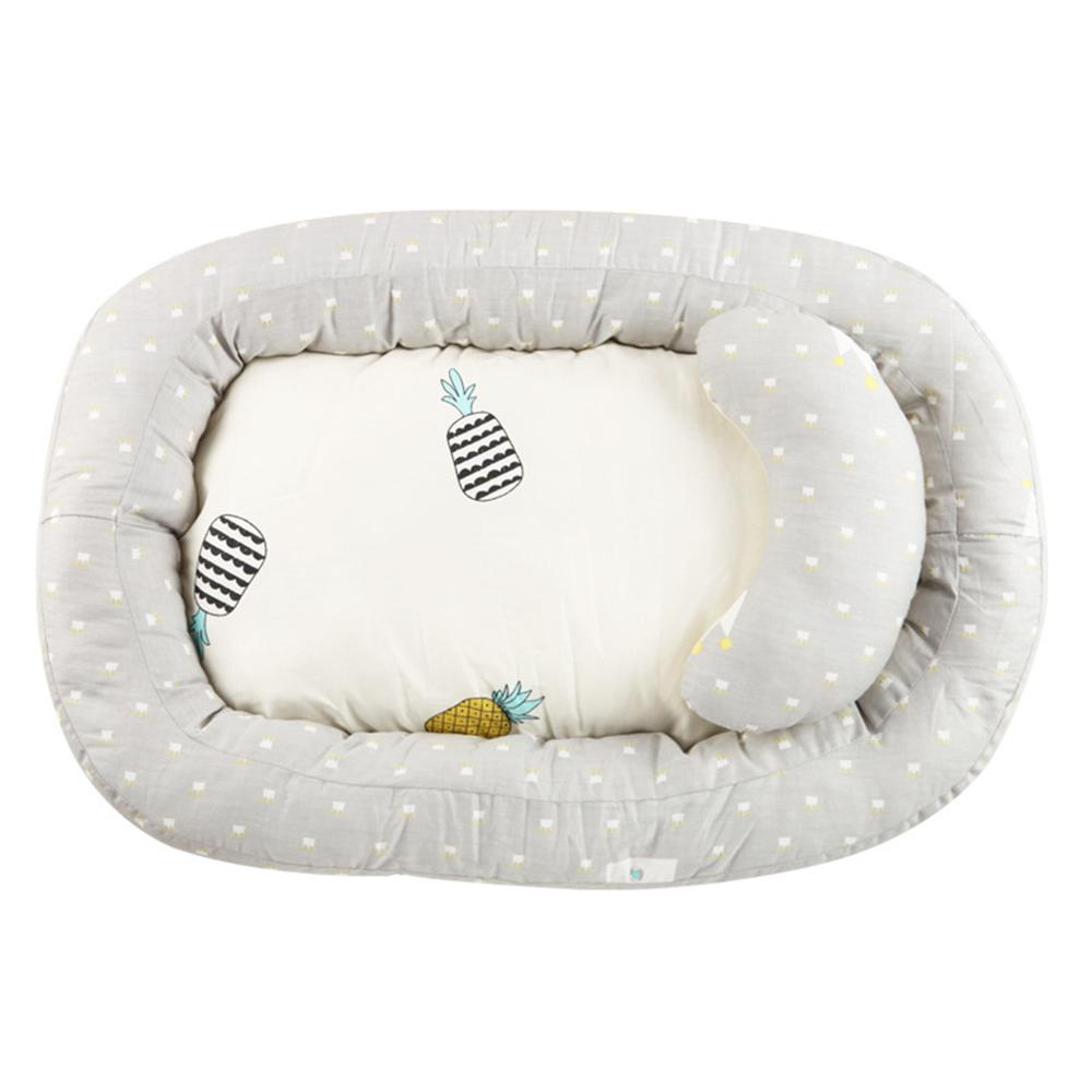 Portable Baby Nest Bed Removable Travel Crib Soft Breathable Lounger Nursery Infant Sleeping Bassinet W / Pillow