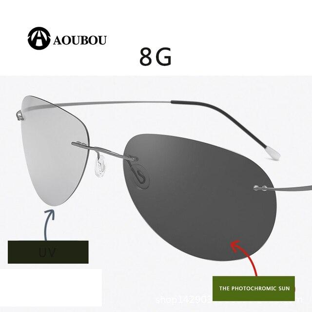 Photochromic night vision goggles oculos de grau masculino Frameless gafas hombre kingseven gunes gozlugu lentes de sol hombre8G