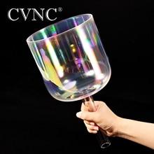 """CVNC 7 """"kosmiczna, jasna, kryształowa miska z uchwytem, dowolna nuta C D E F G A B"""