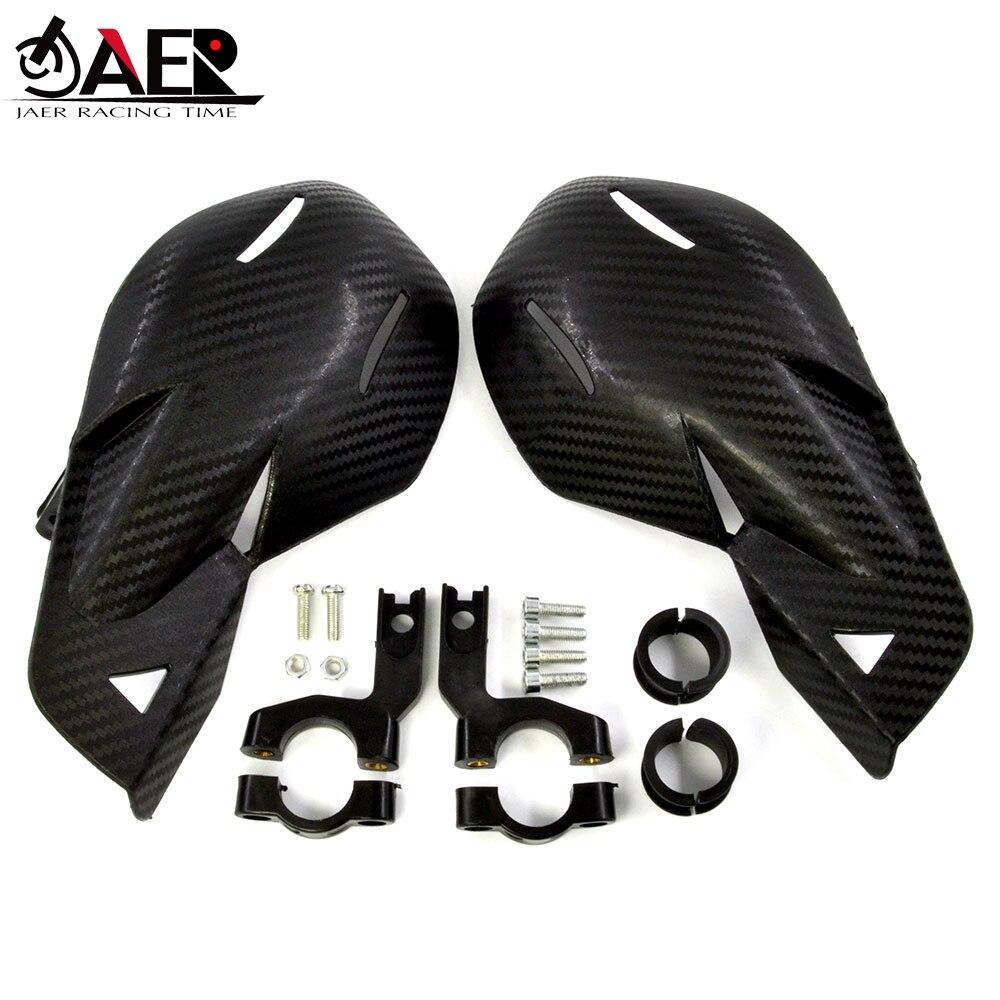 JAER Motorcycle Small Hand Guard Handguard Shield with Carbon fiber for Moto Dirt Bike ATVS Protective Gear 22mm Handbar(China)