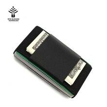 Women Men Credit/ID Card Case Genuine leather Handmade High Quality Black Slim Wallet Bus/Name Card Holder Mini Cash Purses