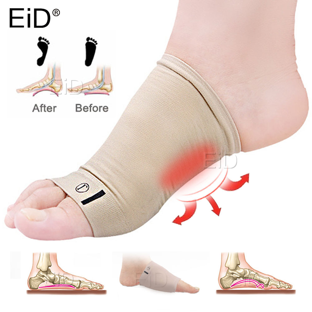 Silicone Gel Arches Footful Orthotic Arch Support Foot Brace Flat Feet Relieve Pain Comfortable Shoes Orthotic Insoles Unisex