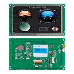 7 Cal moduł ekranu dotykowego TFT LCD z portem UART