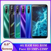 Teléfonos inteligentes A50s, originales, reconocimiento facial de 13MP, Android 6,0 pulgadas, desbloqueados, 4 GB RAM + 64 GB ROM, 18:9, baratos