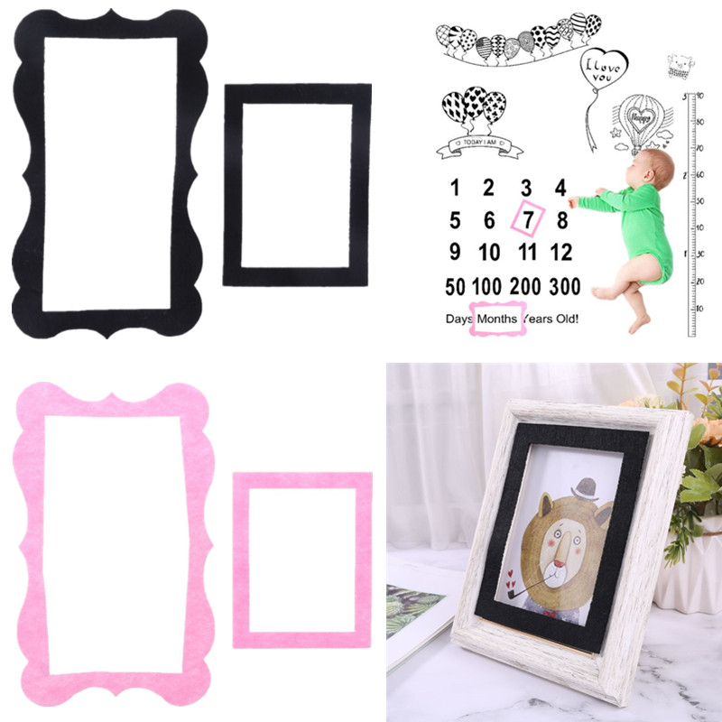 2 Pcs/set Newborn Baby Growth Milestone Celebration Blanket Props Photography Background Cloth Accessories Photo Frame Girls Boy