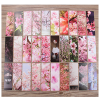 30 Pieces/pack Chinese Style Paper Bookmarks Cute Flower Painting Bookmark Stationery Gifts School Office Supplies
