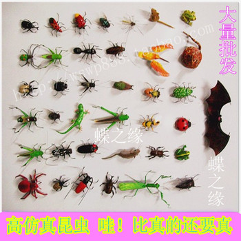 High-quality Imitation Insect Magnetic Refrigerator Sticker Clay Animal Model Teaching Aids Ladybug Grasshopper Dragonfly Beetle