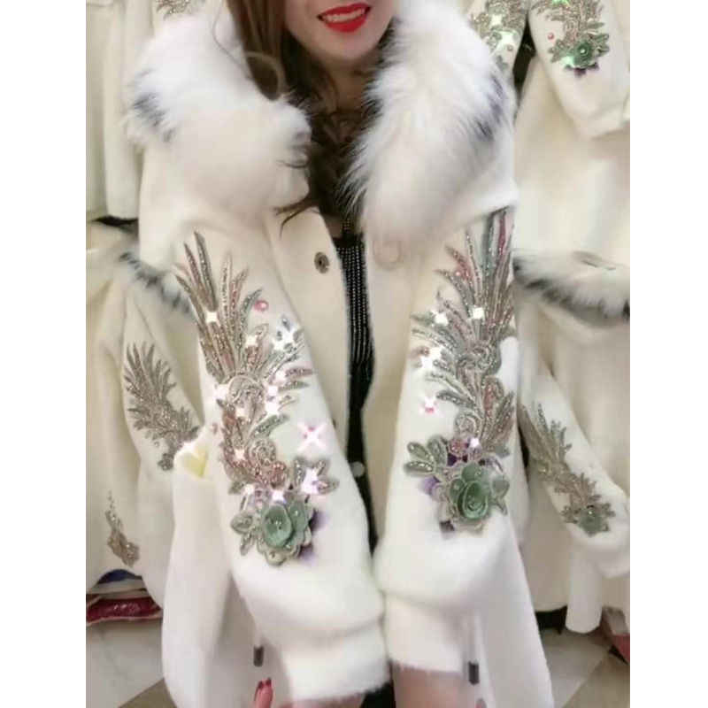 Women 2020 Spring Autumn Imitation Mink Velvet Cardigan Female Fashion Hooded Sweater Coat Ladies New Casual Warm Outerwear Y577