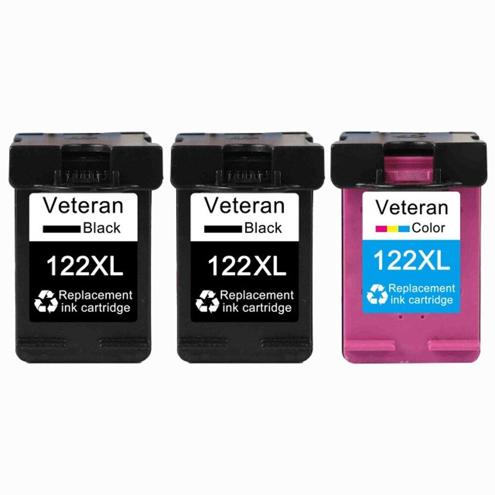 3PK(2Black+1Tri color)122XL Ink Cartridge Compatible HP 122 hp122 for Deskjet 1000 1050 1050A 1510 2000 2050 3000 3050 Printer