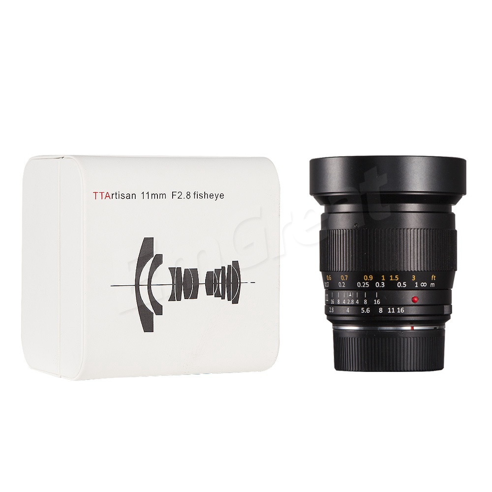 Image 5 - TTArtisan Full Fame 11mm F2.8 Ultra Wide Fisheye Manual Lens E mount for Sony A7 A7II A7R A7RII A7S A7SII A6000 A6300 A6500Camera Lens   -