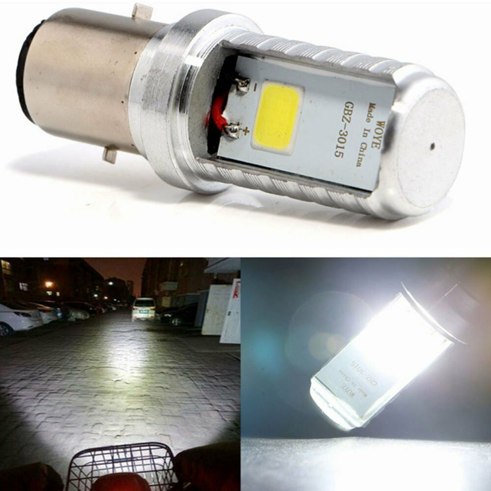 Ceramics 12W BA20D COB LED Motorcycle Headlight Moto Front Bulb Lamp Light 6500K Moto Light Scooter Accessoire Motor Head Lamp