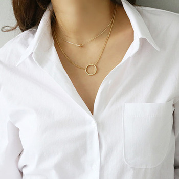 Turn-Down Collar White Loose Long Sleeve Blouse 6