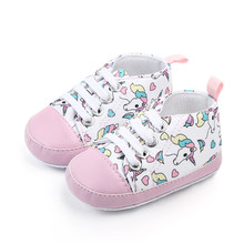 Newborn Baby Shoes Baby Girl Soft Lovely Comfortable Sole Cotton Crib Shoes Casual Sneaker Sport Shoes Patchwork Shoes 0-18M