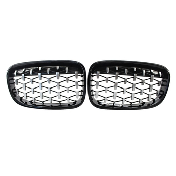 Front Meteor Grill Grilles Kidney Grill Replacement for BMW 1 Series F20 2011-2014​ Black image