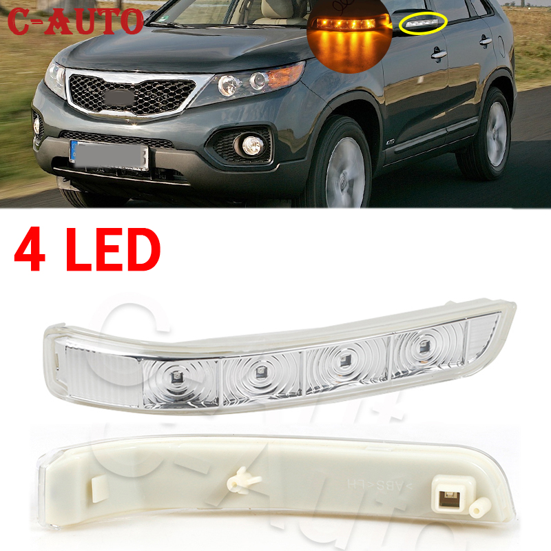 C-auto led turn signal luz retrovisor espelho lateral lâmpada para kia sorento 2009 2010 2011 2012 2013 2014