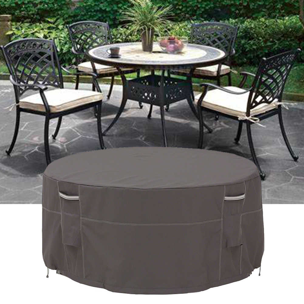 Outdoor Waterproof Patio Foldable Round Table Cover Sofa Chair UV
