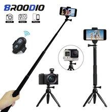 Tripé de controle remoto bluetooth auto temporizador clipe titular selfie dslr tripé vara de montagem para gopro sports camera telefone suporte