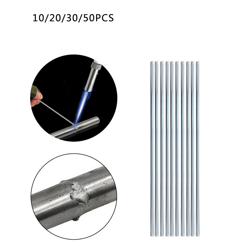 Junejour  Welding Brazing Rod 10/20/30/50Pcs1.6/2.0/3.0MM AluminumLow Temperature Welding Wire Aluminum Solder