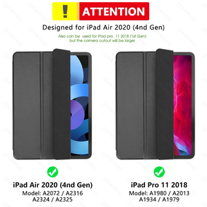 Image 5 - For iPad Pro 11 Case 2020 for iPad Pro 12.9 2020 2018 Air 4 Case 10.9 Funda Magnetic Smart Cover for iPad Pro 2020 Case Coque