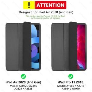 Image 5 - Ipadのプロ11ケース2020 ipadのプロ12.9 2020 2018空気4ケース10.9 funda磁気スマートカバーipadのプロ2020ケースcoque