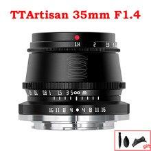 Ttartisan 35mm f1.4 APS-C lente de câmeras foco manual para sony e montagem fujifilm m4/3 leica l a9 a7iii a6400 X-T4 X-T3 X-T30