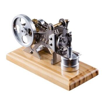 Surwish 1 SET Massivholz Grundplatte DIY Alle-Metall Vakuum Stirling Motor Stem Dampf Modell Set DIY Wissenschaft Geschenk valentines 2020