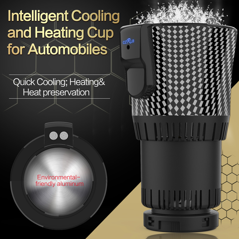 12V Smart Car Hot and Cold Cup Freezing Heating Portable Hot Cup Drink Holder Beverage Can Cooler Freezer Home Office Traveling